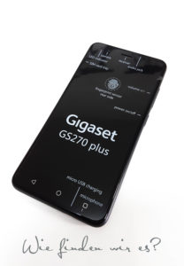 Das Display Gigaset GS270 plus