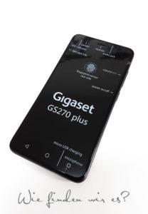 Das Display Gigaset GS270 plus
